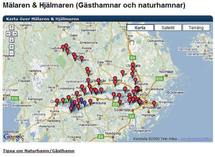 gästhamnar mälaren karta Kartor över sveriges Gästhamnar | Båtsidan.com gästhamnar mälaren karta